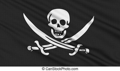 Pirate Flag, with real structure of a fabric