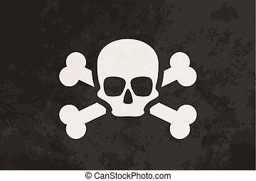 Pirate flag with skull and crossbones