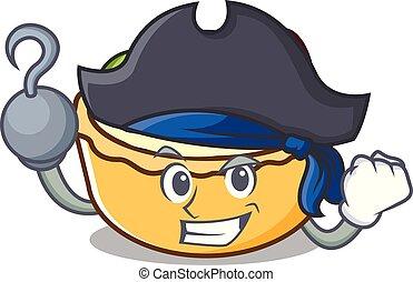 pirate, flan, caractère, dessin animé