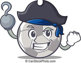 Pirate football character cartoon style