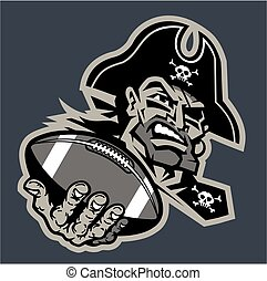 pirate football mascot - pirate football team design with...