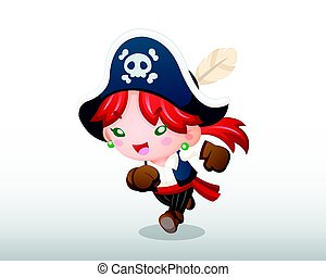 Pirate Girl Illustration