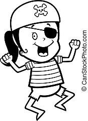 Pirate Girl Jumping