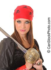Pirate Girl - A lovely pirate girl with a cutlass
