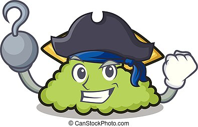 Pirate guacamole character cartoon style