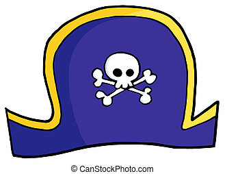 Pirate Hat On A White Background