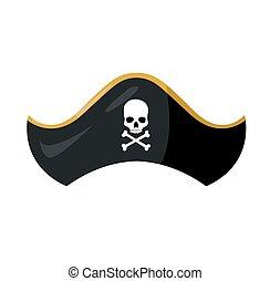 pirate hat vector illustration design