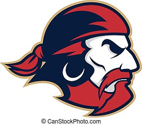 Pirate head mascot - Clipart picture of a pirate head...