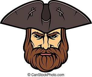 Pirate head with sailor hat