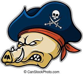 Pirate Hogs - A wild hogs pirate.