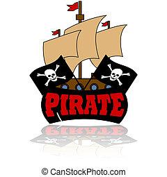 pirate, icône
