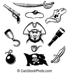 pirate, icônes