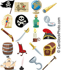 Pirate Icons - Collection of 20 cartoon pirate accessories....