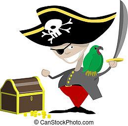 pirate illustration - a pirate