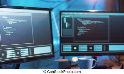 pirate informatique, créer, virus, cyber, attaque, informatique