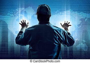 pirate informatique, données, voler