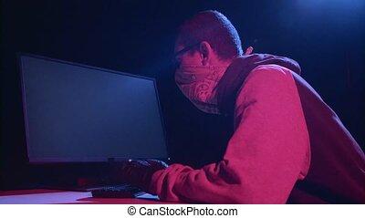 pirate informatique, entrer, mot passe