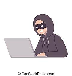 pirate informatique, informatique, voleur