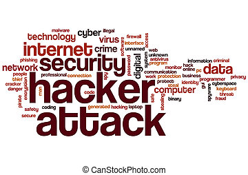 pirate informatique, nuage, attaque, mot