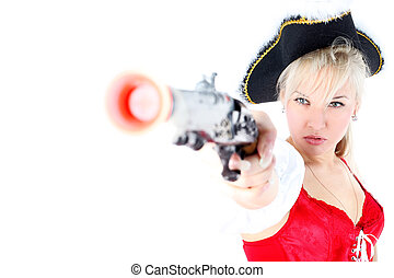 pirate isolated on white