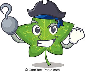 Pirate ivy leaf isolated on character cartoon