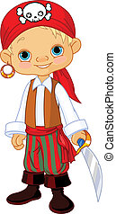 Boy dressed as a pirate
