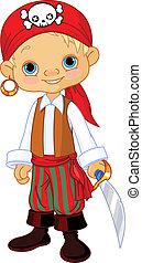 Pirate Kid - Boy dressed as a pirate