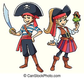 Pirate Kids Illustration