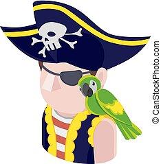 Pirate Man Avatar People Icon