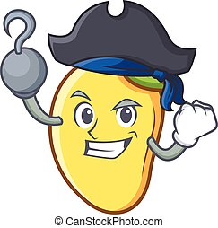 Pirate mango character cartoon mascot