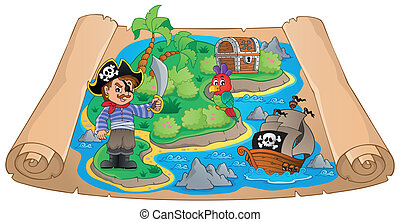 Pirate map theme image 4