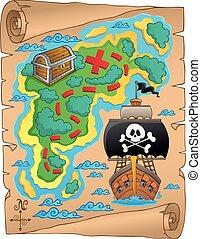 Pirate map theme image 5
