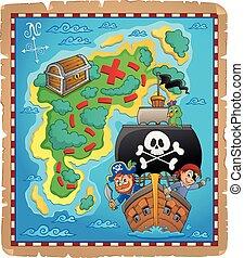 Pirate map theme image 6