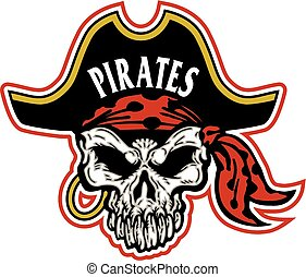 pirate mascot skull