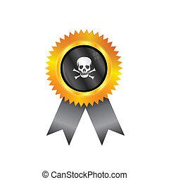 Pirate medal flag