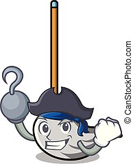 Pirate mop character cartoon style