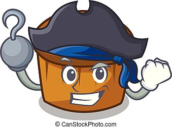Pirate mufin blueberry character cartoon