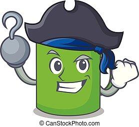 Pirate mug character cartoon style