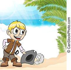 Pirate on a tropical island