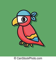 Pirate Parrot bird icon