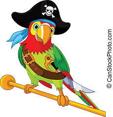 Pirate  Parrot - Illustration of Pirate Parrot