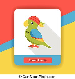 Pirate Parrot flat icon