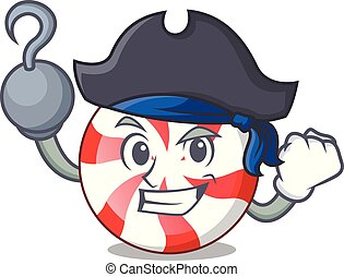 Pirate peppermint candy character cartoon