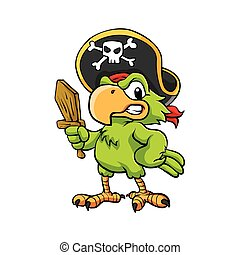 pirate, perroquet