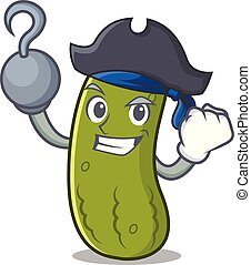 Pirate pickle character cartoon style