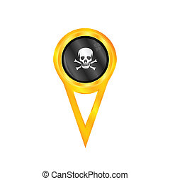 Pirate pin flag