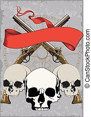 Pirate Poster with skulls