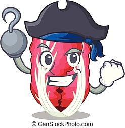 Pirate radiccho in the shape of mascot