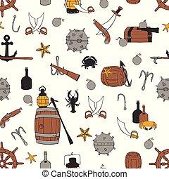 Pirate seamless pattern
