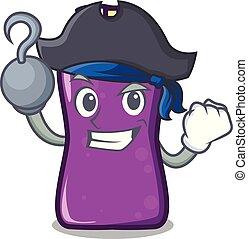 Pirate shampo character cartoon style